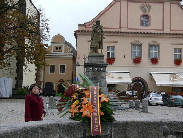 Připomínka umrtí Jana Žižky.