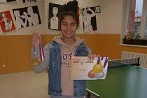 Zlatou medaili v kategorii žákyň vybojovala Rozália Horváthová, žákyně 7. třídy.