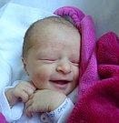 Simona Vlažná z Chrášťan. Narodila se 17. ledna ve 22.23 hodin s váhou 2810 gramů a mírou 48 cm. Je třetím dítětemv rodině, má sourozence Vojtíška (6) a Moničku (3).