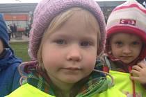 Tereza Zyková, 3 roky, Mašovice.