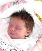KLAUDIE LEGÁTOVÁ ZE SLAP. Narodila se 21. září v 17.51 hodin  Vladimíře a Josefovi jako jejich první dítě. Vážila 2990 g a  měřila  48 cm.