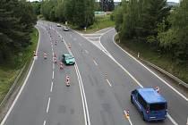 Pozor na změnu jízdy v Táboře na E55.