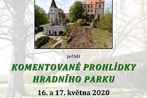 Komentovaného prohlídky parku u hradu Kámen.