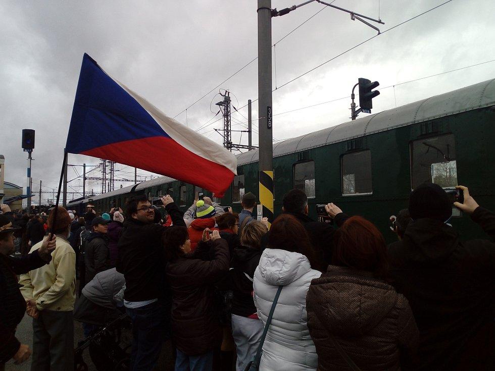 Speciální vlak připomněl příjezd prvního československého prezidenta Tomáše Garrigua Masaryka.