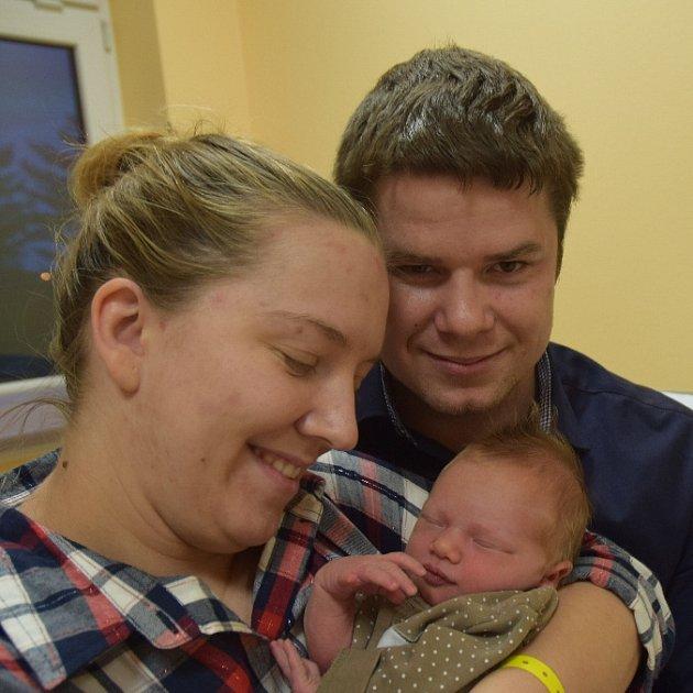 Lucie Klocová ze Sezimova Ústí. Rodiče Michaela a Lukáš se své prvorozené dcery dočkali 31. prosince v 16.57 hodin. Po porodu malá Lucie vážila 3180 gramů a měřila 49 cm.