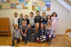 Děti z první třídy ZŠ Orbis Pictus Tábor.
