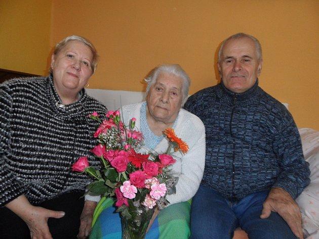 Anežka Emnerová oslavila 101 let.