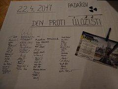 Lidé z Jistebnicka a okolí se zúčastnili Dne proti úložišti.