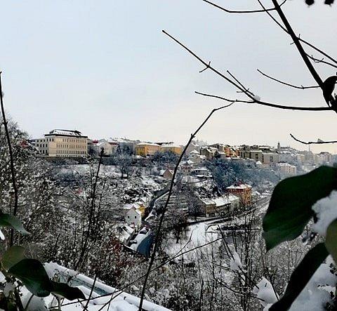 Zima čaruje také v Táboře.