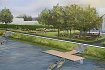 Břeh Lužnice. Planá v příštím roce spustí revitalizaci břehu řeky.