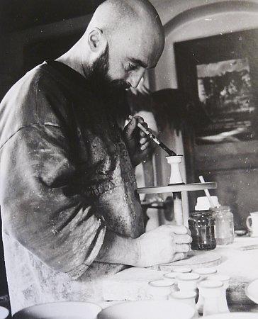 Ivan Uhlíř při práci