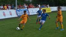 Snímek z loňského finálového turnaje Ondrášovka Cupu na táborské Kvapilce - zápas domácího Táborska s Duklou Praha.