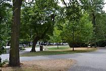 Husův park v Táboře.