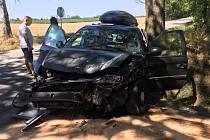 V pátek 26. července zasahovali soběslavští profesionální hasiči u nehody nedaleko Vlastiboře.
