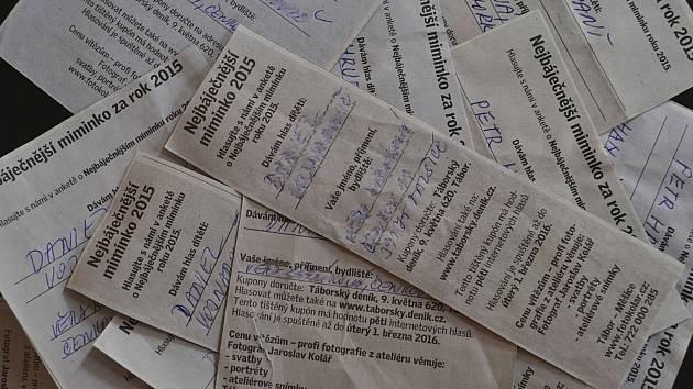 Hlasovací kupony najdete v novinách.