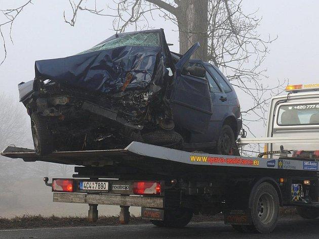 Tragická nehoda se stala u obce Slapy u Tábora.
