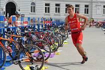 Robert Kostlán na trati posledního Táborského triatlonu.