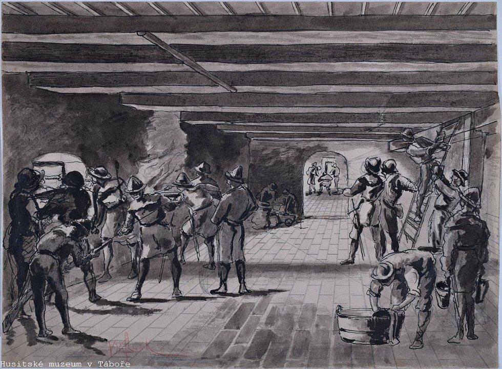Nová expozice v Bechyňské Bráně a věži Kotnov, která nese název Tábor – pevnost spravedlivých a královské město, čeká na své otevření.