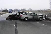 Dopravní nehoda u Veselí nad Lužnicí.