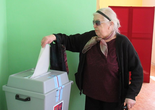 Volby do EU vKošicích.
