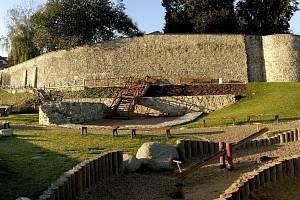 Velký šanc v Táboře a městské hradby.