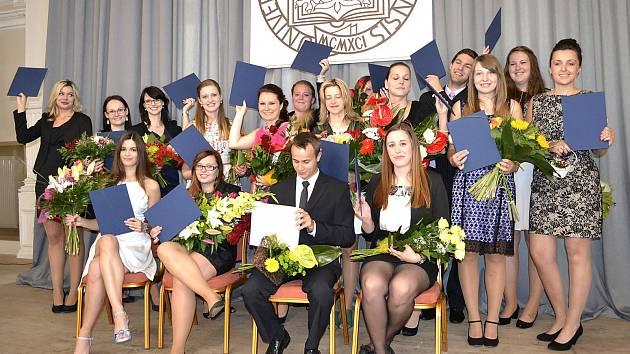 Studenti bakalářského oboru Lázeňství a turismus na Slezské univerzitě.