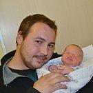 Jakub Dušánek ze Soběslavi. Poprvé na svět pohlédl 23. listopadu ve 21.15 hodin. Vážil 2780 gramů, měřil 47 cm a má sestřičku Elišku, které budou zanedlouho tři roky.