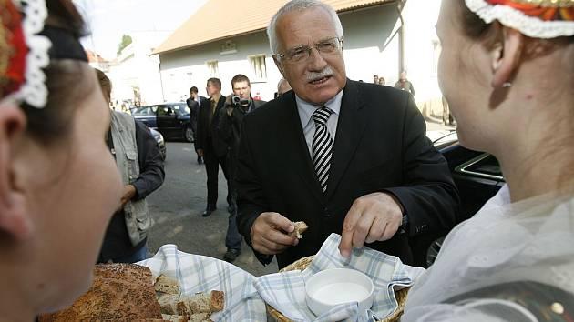 Václav Klaus při návštěvě jihu Čech