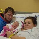 Natálie Kohoutová z Veselí nad Lužnicí. Rodiče Nikola a Filip se své prvorozené dcery dočkali 9. ledna v 15.59 hodin. Vážila 3480 gramů a měřila 51 cm.