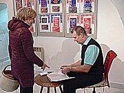 Petr Lintner měl v sobotu v Soběslavi autogramiádu ke své nové knize Spolky soběslavské.