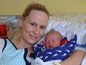 Šimon Kos z Tábora. Narodil se 1. ledna osm minut po čtrnácté hodině jako druhý syn v rodině. Vážil 3080 gramů, měřil 46 cm a bráškovi Matyášovi jsou tři roky.