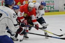 Ze sobotního utkání HC Tábor - Slezan Opava (2:1 po samostatných nájezdech).