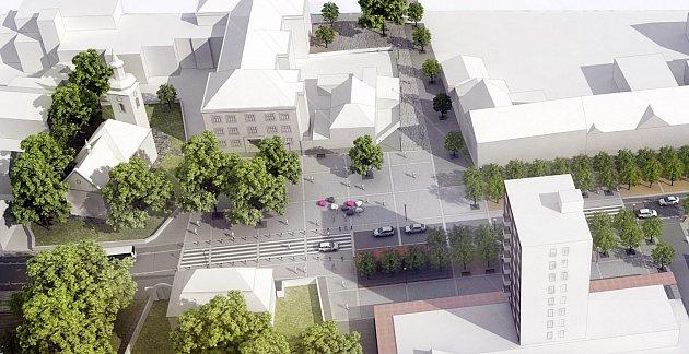Pohled na novou podobu centra Plané nad Lužnicí.