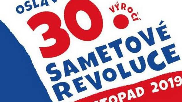 Plakát k oslavám 30. výročí sametové revoluce v Táboře.