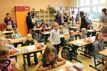 První školní den na ZŠ v Mladé Vožici.