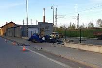 Tragická dopravní nehoda se stala na okraji Veselí nad Lužnicí. Foto: PČR