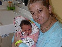 ELIŠKA KOTALÍKOVÁ  Z LÍŠNICE. Narodila se 20. února ve 22.43 hodin. Vážila 3360 g, měřila 48 cm a je první dcerou rodičů Olgy a Pavla.