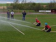 Ve větru, dešti bojovali dobrovolní hasiči v sobotu 13. 5. 2017 na Okrskové soutěži v Borotíně.