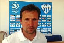 Trenér FC MAS Táborsko Petr Frňka.