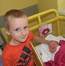 Klára Frýzková z Přehořova. Narodila se 4. září ve 20.38 hodin. Vážila 3450 gramů, měřila 50 cm a doma už má tři sourozence – Jiřího (18),  Elišku (11) a Honzíka (5).