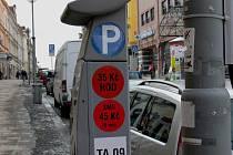 Parkovací automat v centru města. Ilustrační foto