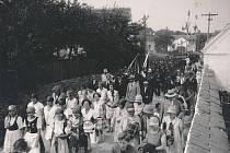 Hasičská akce v Chotovinách.