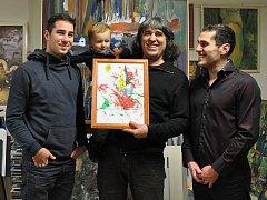 Tři generace: Aleš, Nicolas, Teodor a Daniel Buzu.
