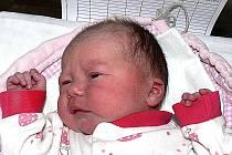 TEREZA BOHÁČOVÁ Z TŘEBIŠTĚ. Prvorozená dcera rodičů Petry a Honzy poprvé spatřila světlo světa 24. března deset minut po osmé hodině.  Po  narození byla  její váha 3180 gramů.