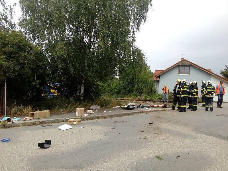 V Táboře se stala železniční nehoda na přejezdu v Měšické ulici.