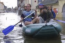 Ilustrační foto z povodní v roce 2002 v sousední Soběslavi.