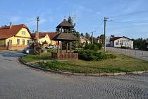 Náves v Sudoměřicích u Tábora.
