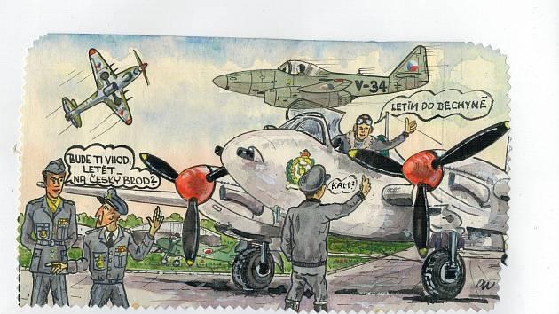 Galerie Záliv v bechyňských lázních láká na letecký komiks.