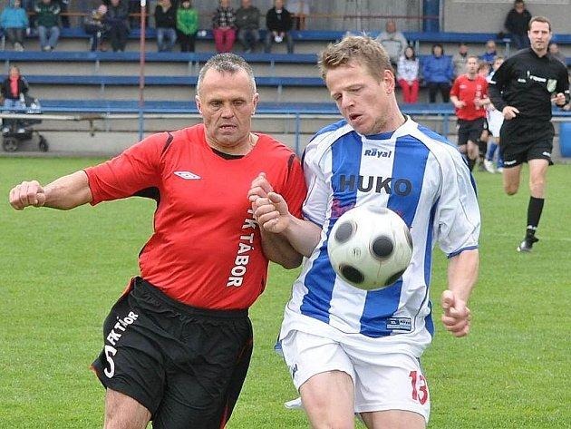 V neúspěšném utkání na hořovické půdě chyběl Táboru i zkušený Marcel Mácha (vlevo).