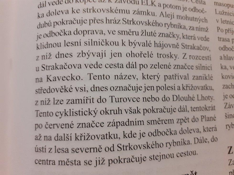 Zmínky o Strakačově a dalších zaniklých vesnicích v Turoveckém lese v historických knihách a místopisech.